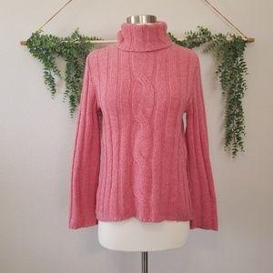 99.00 Zara Basic Pink Wool Turtleneck Medium